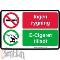 Klistermærke - Rygning forbudt